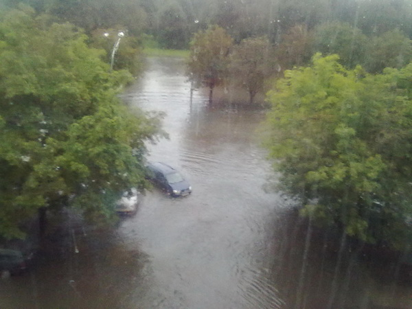 flooded park in minsk