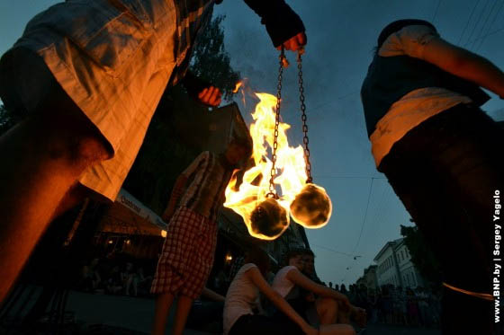 fire show in minsk