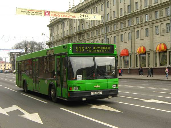 green bus in minsk