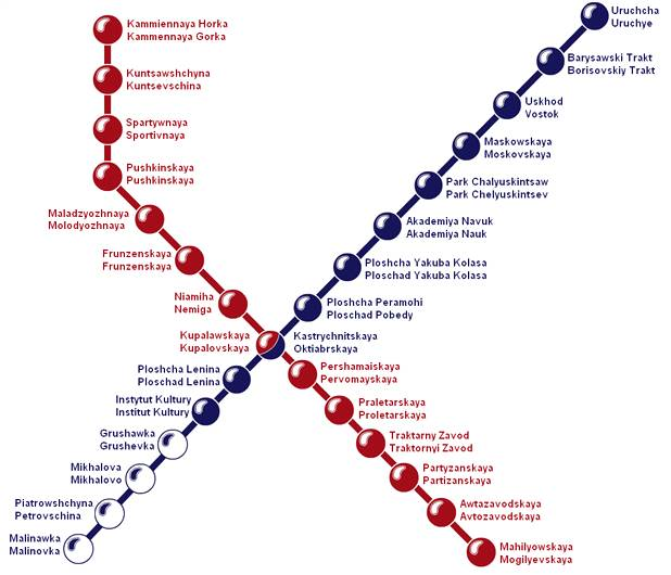 metro plan map in minsk