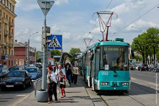 trams in minsk