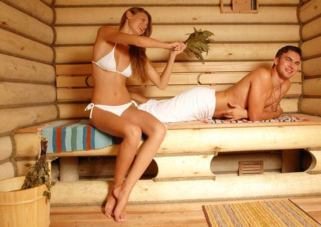 russian banya and sauna in winter