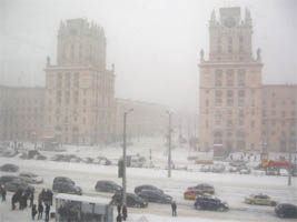 snowfall in minsk