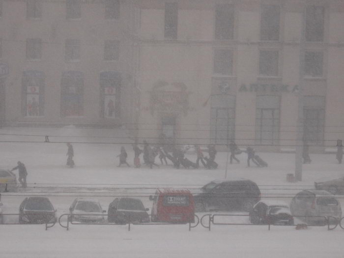 crazy snowfall in minsk 15 march