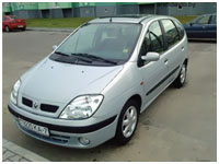 car rent service in Minsk (renault scenic)